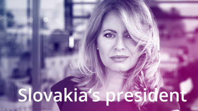 Zuzana Čaputová has become the first female president of Slovakia